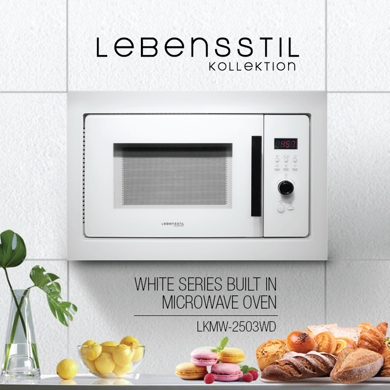 White Series Built in Microwave Oven LKMW-2503WD