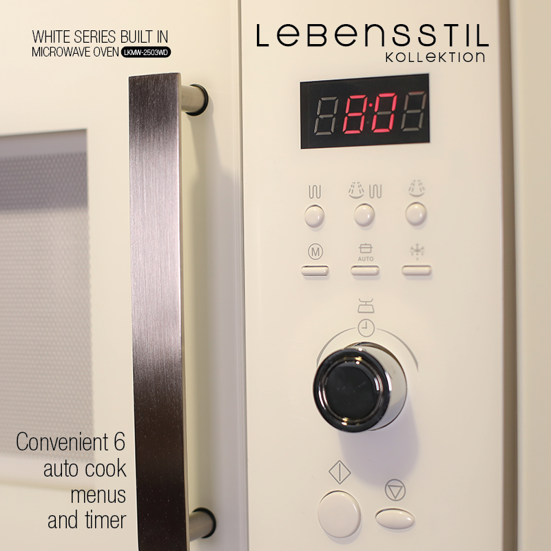 White Series Built in Microwave Oven p8