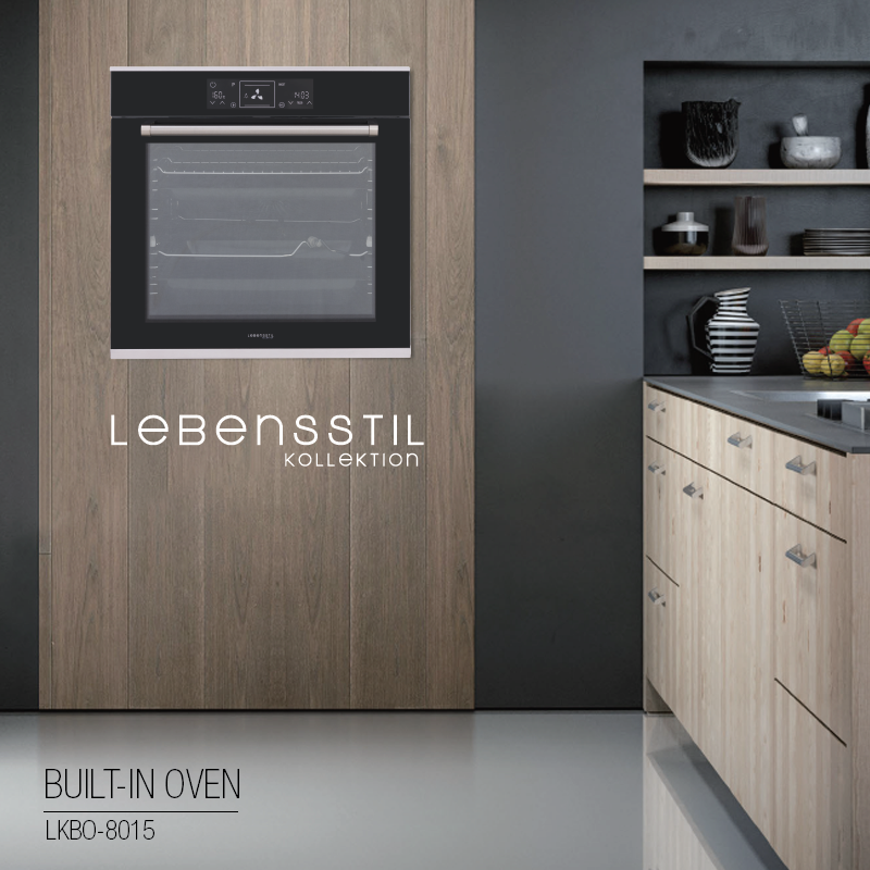 80L Electric Built-In Oven 15 Function